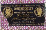 Antike Schreibfeder-Schachtel, John Mitchell, No. 0100 EF