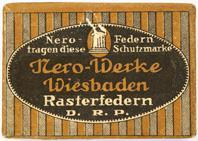 Antike Bandzugfeder, Nero, Rundschrift, No. 1, D.R.P.
