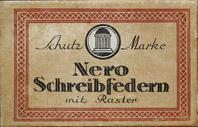 Antike Schreibfeder-Schachtel, Nero-Werke, No. 1, Rundschrift, D.R.P.