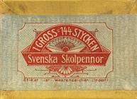 Antike Schreibfederschachtel, Nitor, No. 0302 F, Svenska Skolpennor