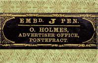Antike Bandzugfeder, O. Holmes, Advertiser Pointefract, J-Pen, B