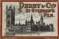 Antike Schreibfederschachtel, Perry & Co, No. 206 F, St. Stephen's Pen