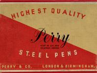 Schachtel mit Kalligraphie Spitzfedern, Perry & Co, No. 257 EF