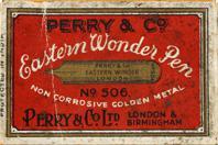 Antike Schreibfederschachtel, Perry & Co, No. 506, Eastern Wonder