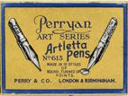 Schreibfederschachtel, Perry & Co, No. 613, Artletta Pen