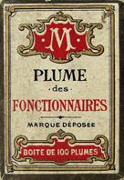 Antike Schreibfederschachtel, Unbekannter Hersteller, Plume Fonctionnaires EF