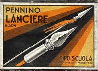 Antike Schreibfederschachtel, Presbitero, No. 304 F, Pennino Lanciere