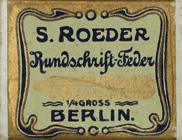 Antike Schreibfederschachtel, S. Roeder, No. 2, Rundschriftfeder, Germany
