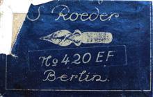 Antike Schreibfederschachtel, S. Röder, No. 420 EF