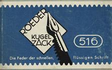 Antike Schreibfederschachtel, S. Roeder, No. 516 EF, Kugelzack