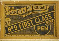 Antike Schreibfederschachtel, Sands & McDougall Pty, No. 9, First Class Pen