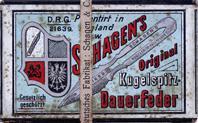 Antike Schreibfederschachtel, Schagen & Co, Schagens Kugelspitz Dauerfeder M