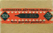 Antike Schreibfedern-Schachtel, F. Soennecken, No. S 20
