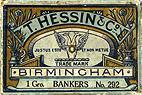 Antike Schreibfederschachtel, T. Hessin & Co, No. 292, Bankers Pen