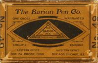Schachtel mit Kalligraphie Spitzfedern, The Barion Pen Co. No. 49