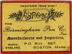 Antike Schreibfederschachtel, The Birmingham Pen Co, No. 226, Silver Alloy