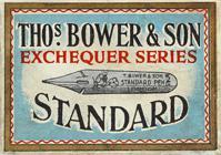 Antike Schreibfederschachtel, Thomas Bower & Son, No. 450, Standard Pen