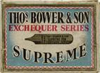 Antike Schreibfederschachtel, Tho.s bower & Son, No. 7490, Supreme Pen, Exchequer Series