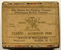 Schachtel mit Kalligraphie-Spitzfedern, Tuxedo Aluminium Improved, 4 ein halb