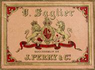 Antike Schachtel mit Kalligraphie Spitzfedern, V. Saglier, No. 170 F