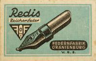 Berliner Schreibfeder-Fabrik (VEB), No. 46, Redis Zeichenfeder, 1mm