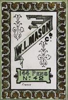 Antike Schreibfederschachtel, W. L. Mason, No. 42