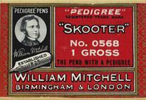 Antike Schachtel mit Kalligraphie Schreibfedern, William Mitchell, No. 0568, Skooter Pen
