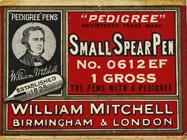 Antike Schreibfederschachtel, William Mitchell, No. 0612 EF, Small Spear Pen