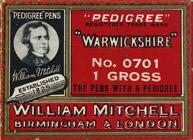 Antike Schreibfederschachtel, William Mitchell, No. 0701, Warwickshire