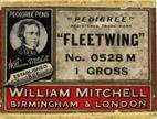 Antike Schreibfederschachtel, William Mitchell, No. 0528, Pedigree Fleetwing