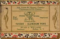 Antike Schreibfedernschachtel, Tuxedo, No. 17, Aluminium Pen, Stationer Ryan & Williams