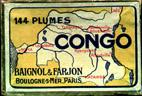 Antike Schachtel, Baignol & Farjon, No. 440 EF, Plume Congo
