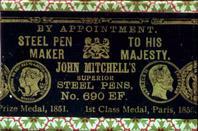 Antike Schreibfederschachtel, John Mitchell, No. 690 EF