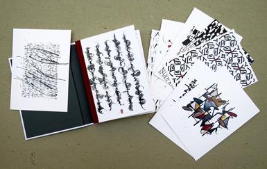 Schriftspiele - Das Postkartenbuch, 40 Postkarten, Detailansicht