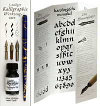 Calligraphy gift set, including ink, 3 pen nibs and a penholder